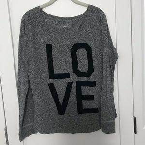 Dark Grey 'LOVE' Shirt